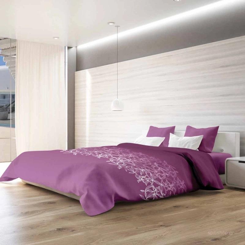 Παπλωματοθήκη Yπέρδιπλη (Σετ) Makis Tselios Toscana Pink