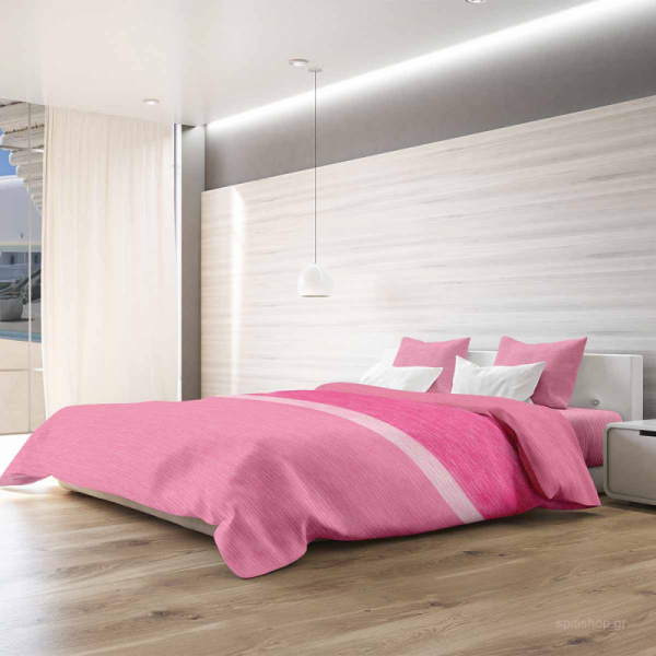 Παπλωματοθήκη King Size (Σετ) Makis Tselios Exotica Pink