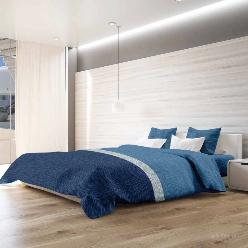 Πάπλωμα Υπέρδιπλο (Σετ) Makis Tselios Exotica Blue