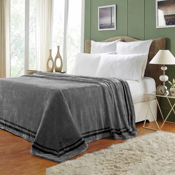 Κουβέρτα Βελουτέ Μονή Makis Tselios Royal Grey