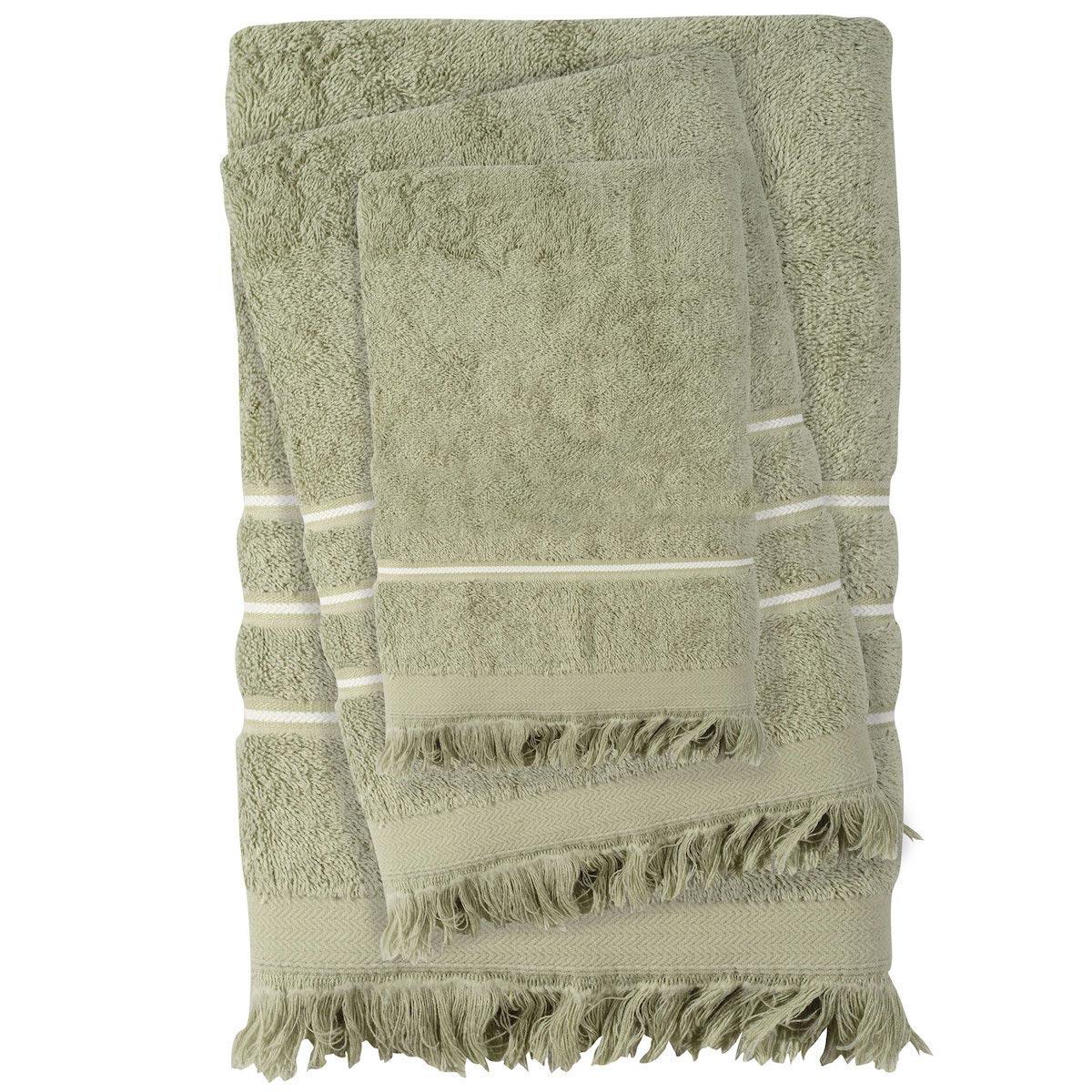 Πετσέτες Μπάνιου (Σετ 3τμχ) Das Home Best Line 0427 Olive