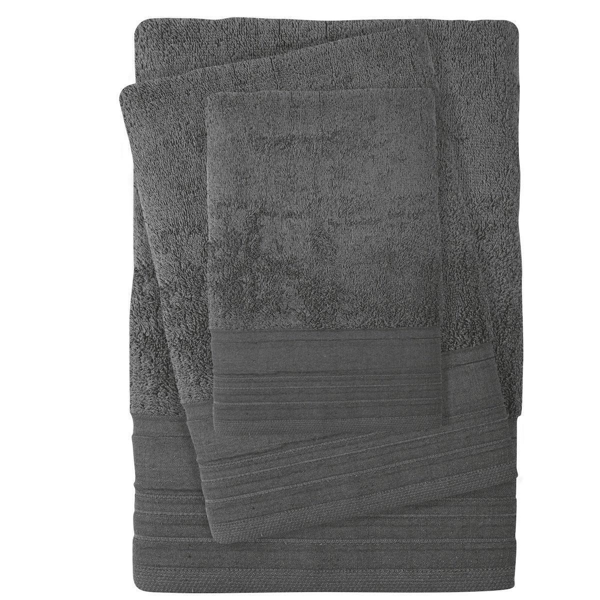 Πετσέτες Μπάνιου (Σετ 3τμχ) Das Home Best Line 0432 Grey