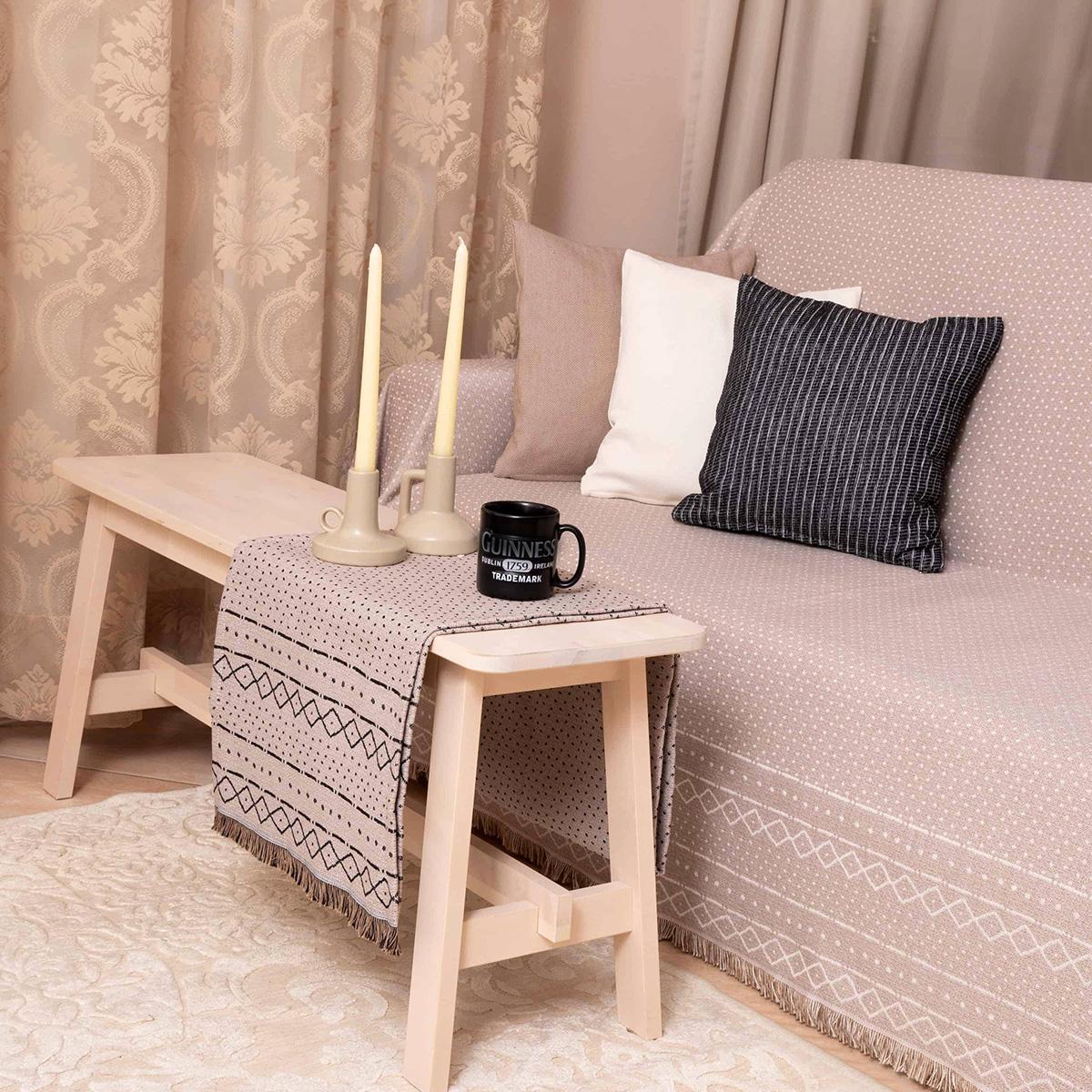 Ριχτάρι Πολυθρόνας 2 Όψεων (180×180) Loom To Room Gealic Beige