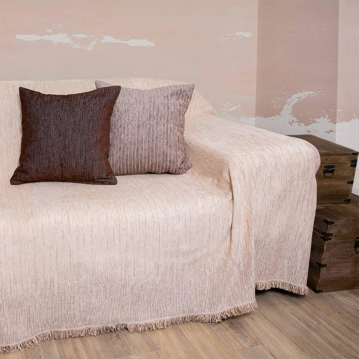 Ριχτάρι Πολυθρόνας (180×180) Loom To Room Dimitra Ecru