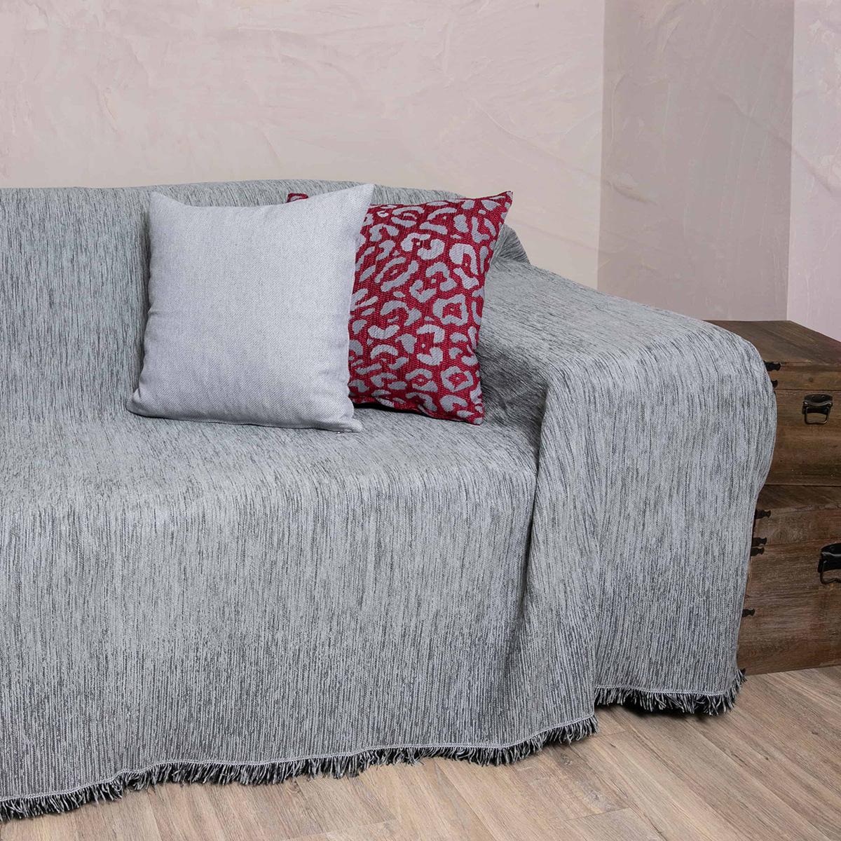 Ριχτάρι Πολυθρόνας (180×180) Loom To Room Dimitra Grey