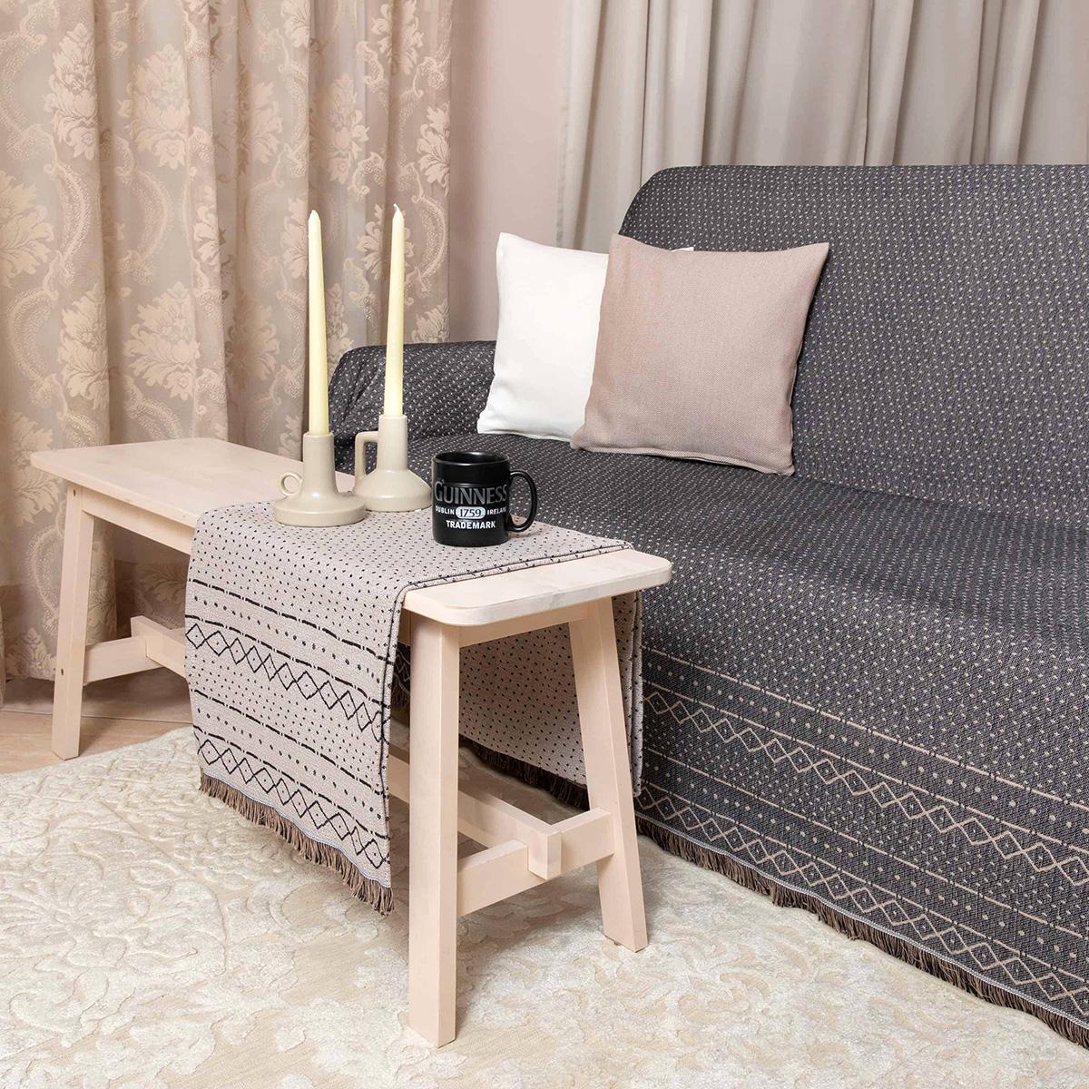 Ριχτάρι Πολυθρόνας 2 Όψεων (180×180) Loom To Room Gealic Black