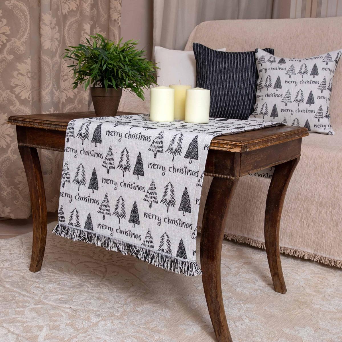 Χριστουγεννιάτικη Τραβέρσα Loom To Room Noel Black/White