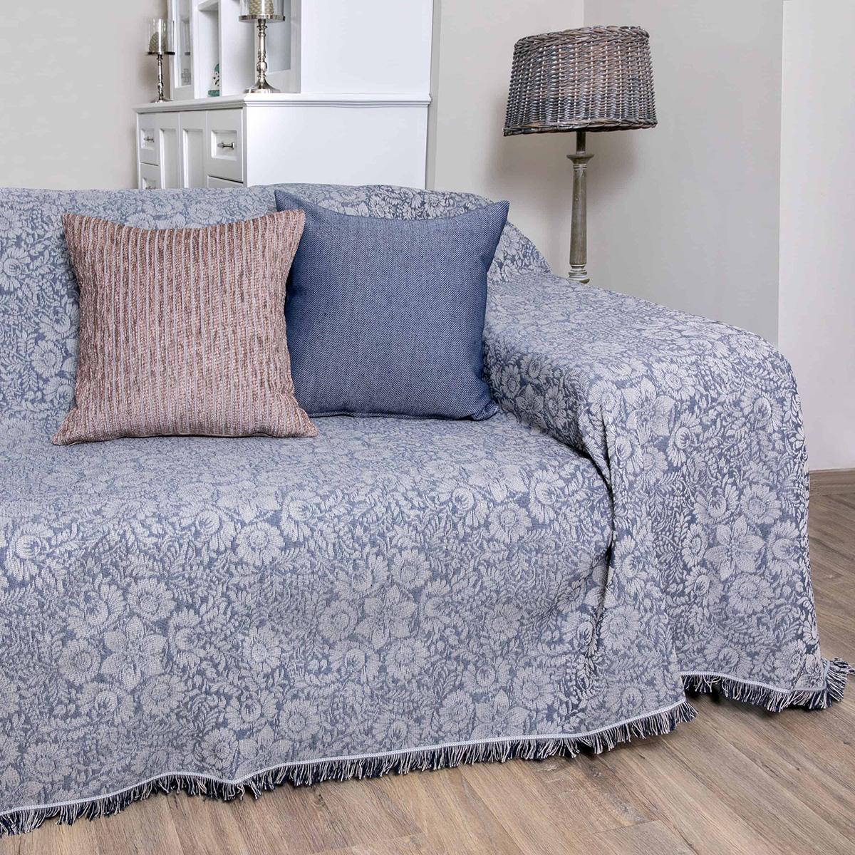 Ριχτάρι Τριθέσιου (180×300) Loom To Room Lilly Dark Blue