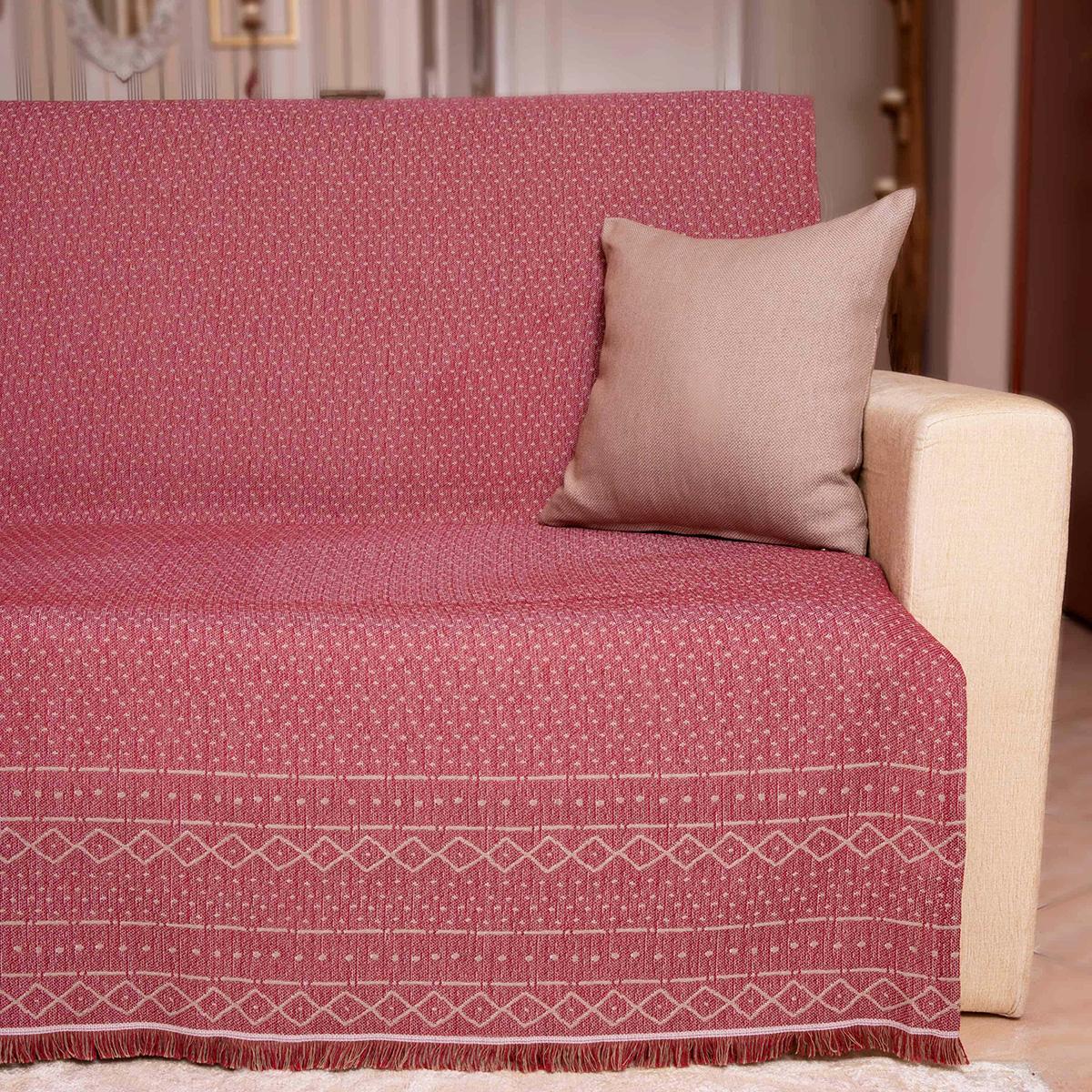 Ριχτάρι Τετραθέσιου 2 Όψεων (180×350) Loom To Room Gealic Bordeaux