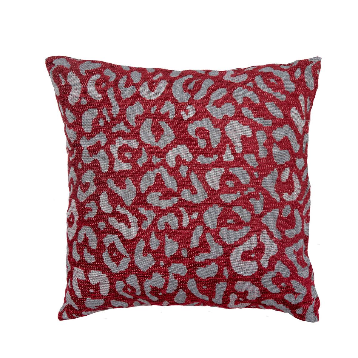 Διακοσμητική Μαξιλαροθήκη (40×40) Loom To Room Leopardo Bordeaux