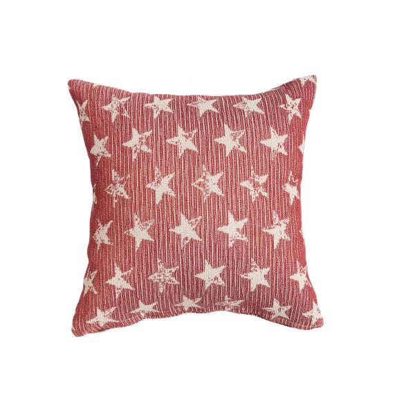Διακοσμητική Μαξιλαροθήκη (40x40) Loom To Room Starlight Red