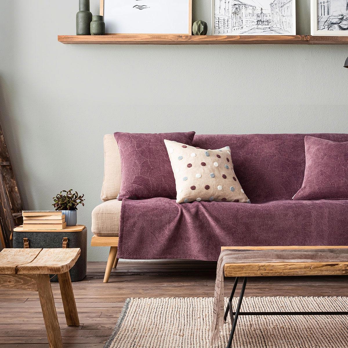 Ριχτάρι Τριθέσιου (180x310) Gofis Home Nimbus Purple 447/19