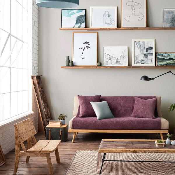 Ριχτάρι Τετραθέσιου (180x350) Gofis Home Nimbus Purple 447/19