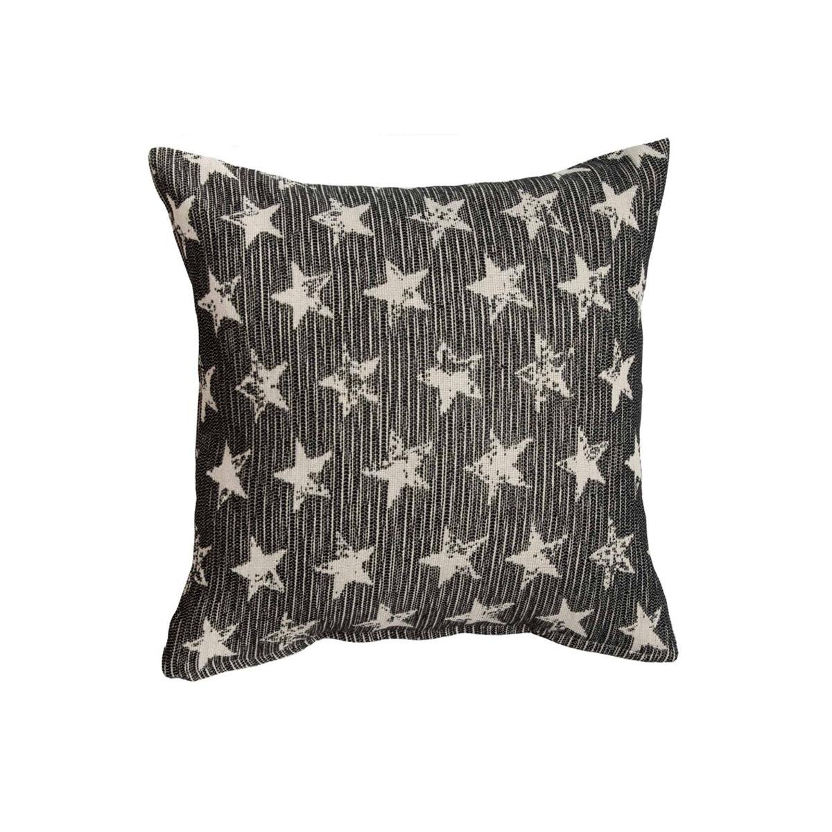 Διακοσμητική Μαξιλαροθήκη (40x40) Loom To Room Starlight Black