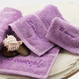 Πετσέτα Χεριών (30x50) Sb Concept Logo Lilac