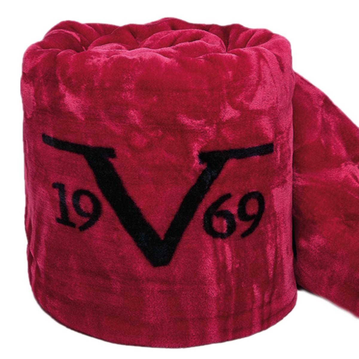 Κουβέρτα Βελουτέ Υπέρδιπλη V19.69 Velluto Rosso