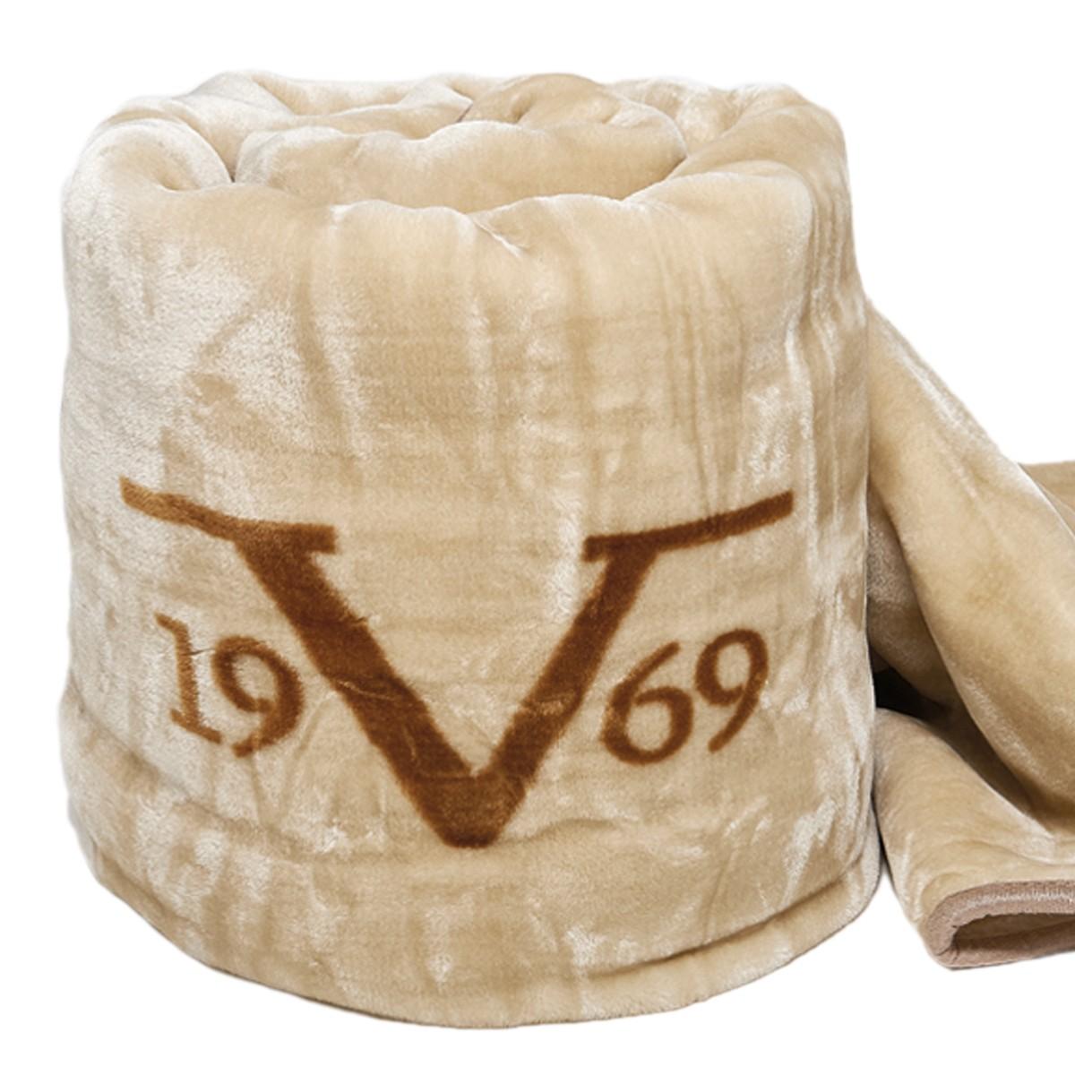Κουβέρτα Βελουτέ Υπέρδιπλη V19.69 Velluto Mattone