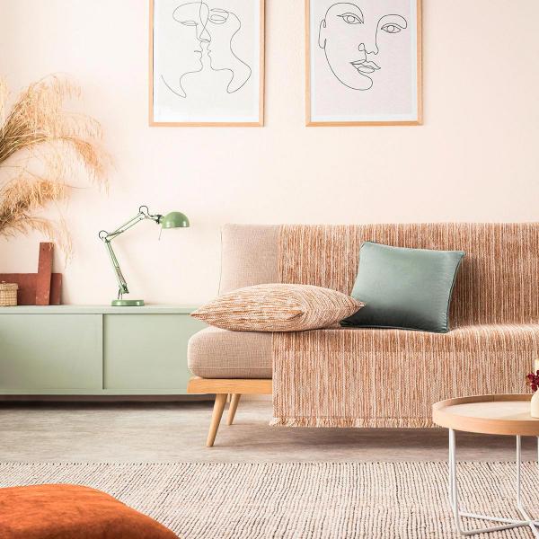 Ριχτάρι Πολυθρόνας (180x180) Gofis Home Renkly Orange 645/03