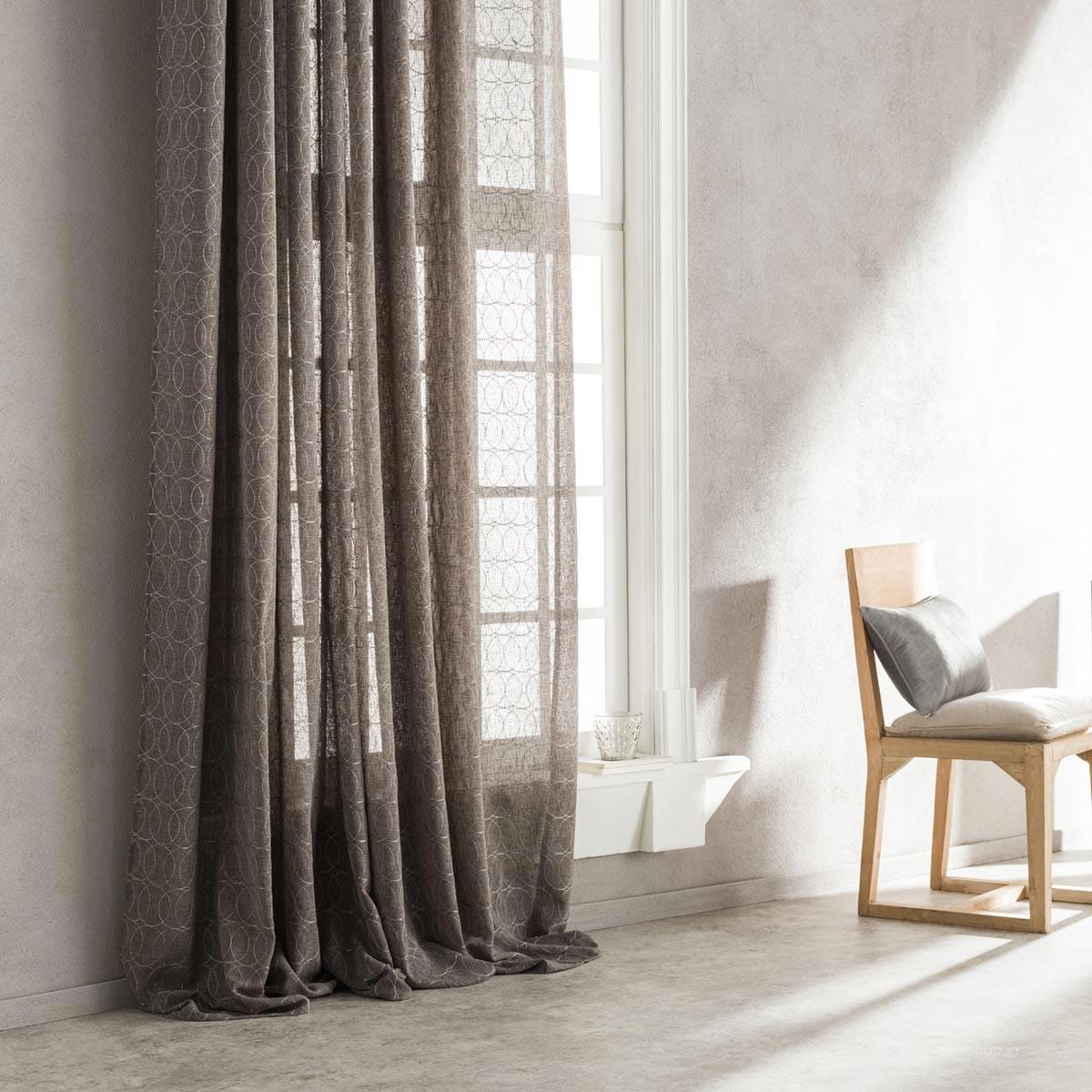 Κουρτίνα (140×280) Με Τρουκς Gofis Home Orbis Grey 908/09