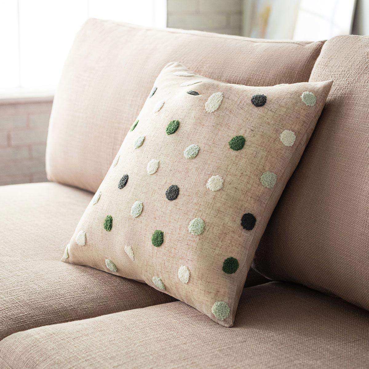 Διακοσμητική Μαξιλαροθήκη (43x43) Gofis Home Felicia Pine Green 206/18