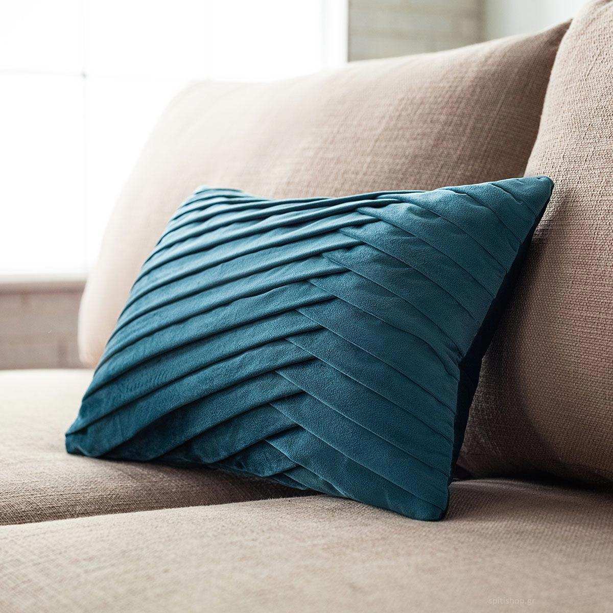 Διακοσμητική Μαξιλαροθήκη (30x45) Gofis Home Milena Blue 635/09