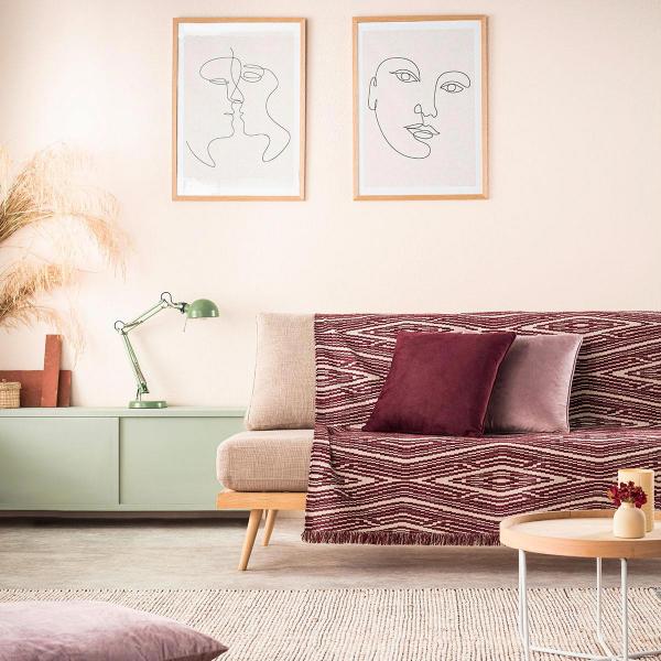 Ριχτάρι Πολυθρόνας (180x180) Gofis Home Streamy Cherry 663/02
