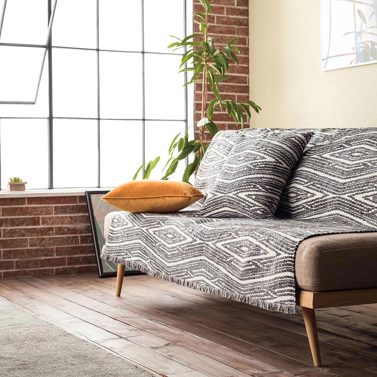 Ριχτάρι Τετραθέσιου (180x350) Gofis Home Streamy Grey 663/15