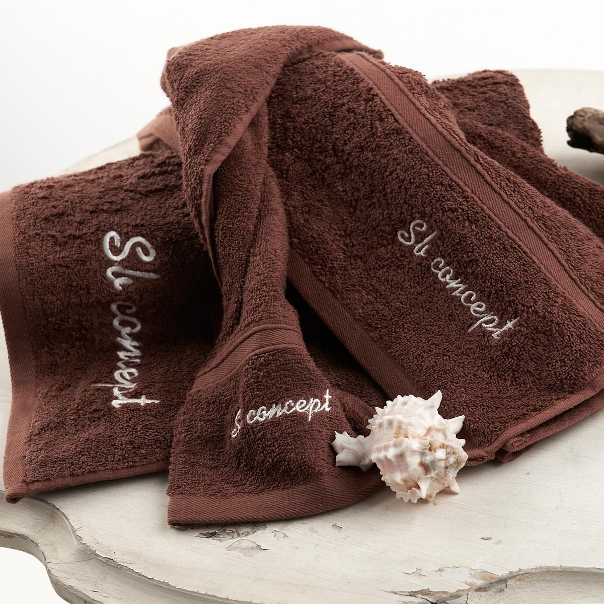 Πετσέτα Χεριών (30x50) Sb Concept Logo Brown