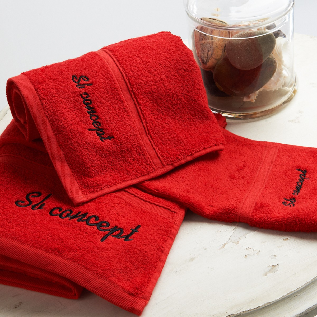 Πετσέτα Χεριών (30x50) Sb Concept Logo Red