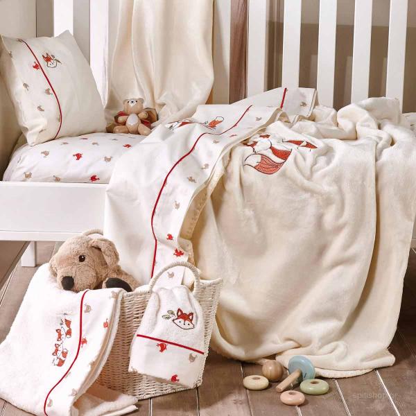 Κουβέρτα Fleece Κούνιας Kentia Baby Clever