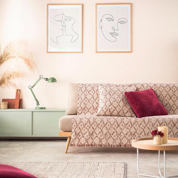 Ριχτάρι Πολυθρόνας (180x180) Gofis Home Losange Bordo 990/02