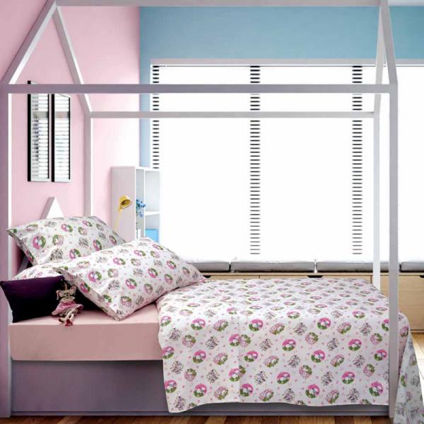 Παπλωματοθήκη Μονή Sb Home Kid Elvin Pink