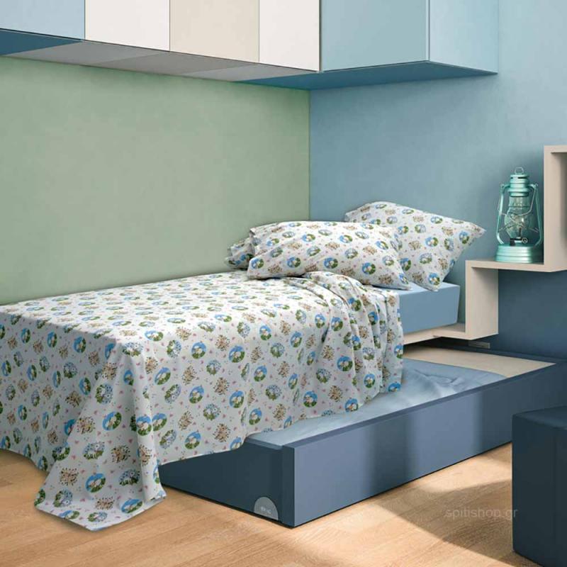 Παπλωματοθήκη Μονή Sb Home Kid Elvin Blue