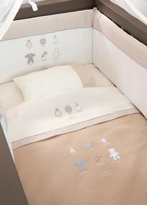 Κουβέρτα Πικέ Κούνιας Baby Oliver Little Things 610
