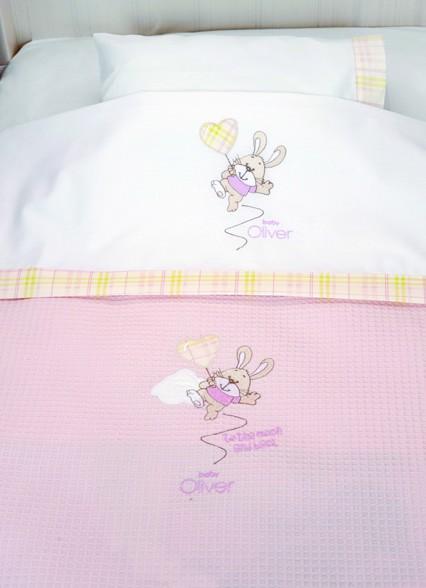 Κουβέρτα Πικέ Κούνιας Baby Oliver Des 616