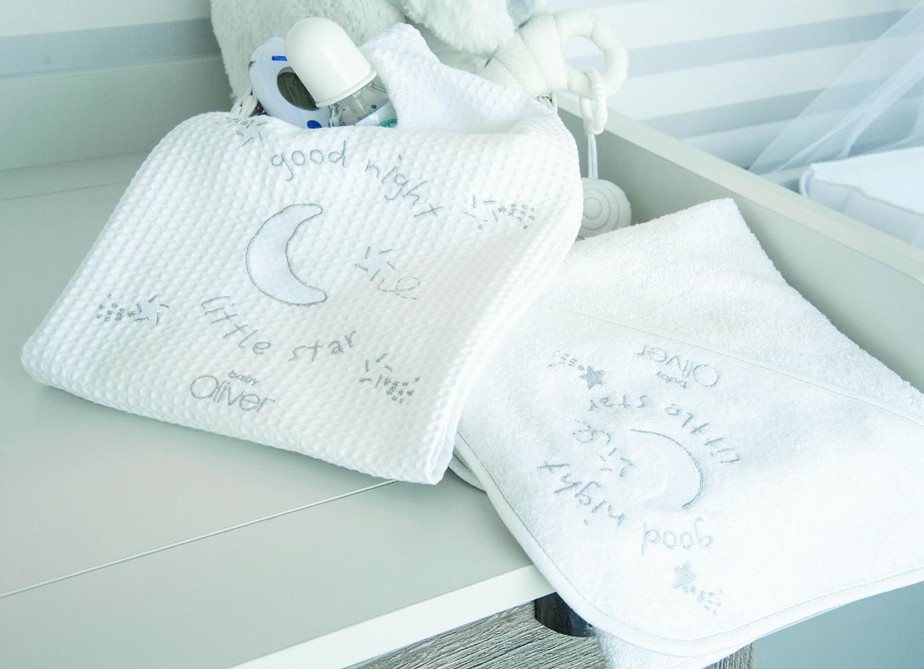 Βρεφικές Πετσέτες (Σετ 2τμχ) Baby Oliver Silver Moon 609
