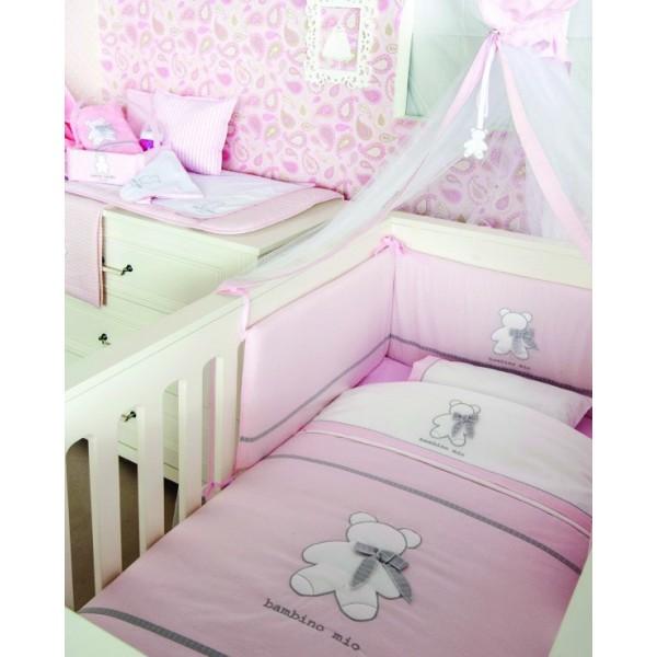 Σεντόνια Κούνιας (Σετ) Omega Home Bambino Pink 142