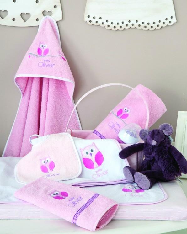Βρεφικές Πετσέτες (Σετ 2τμχ) Baby Oliver Pink Owl 630