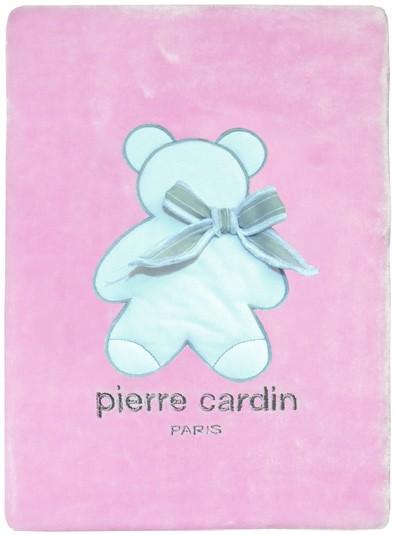 Κουβέρτα Βελουτέ Κούνιας Pierre Cardin Bambino Pink 142