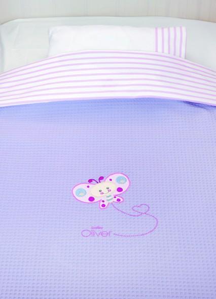 Κουβέρτα Πικέ Κούνιας Baby Oliver Des 620