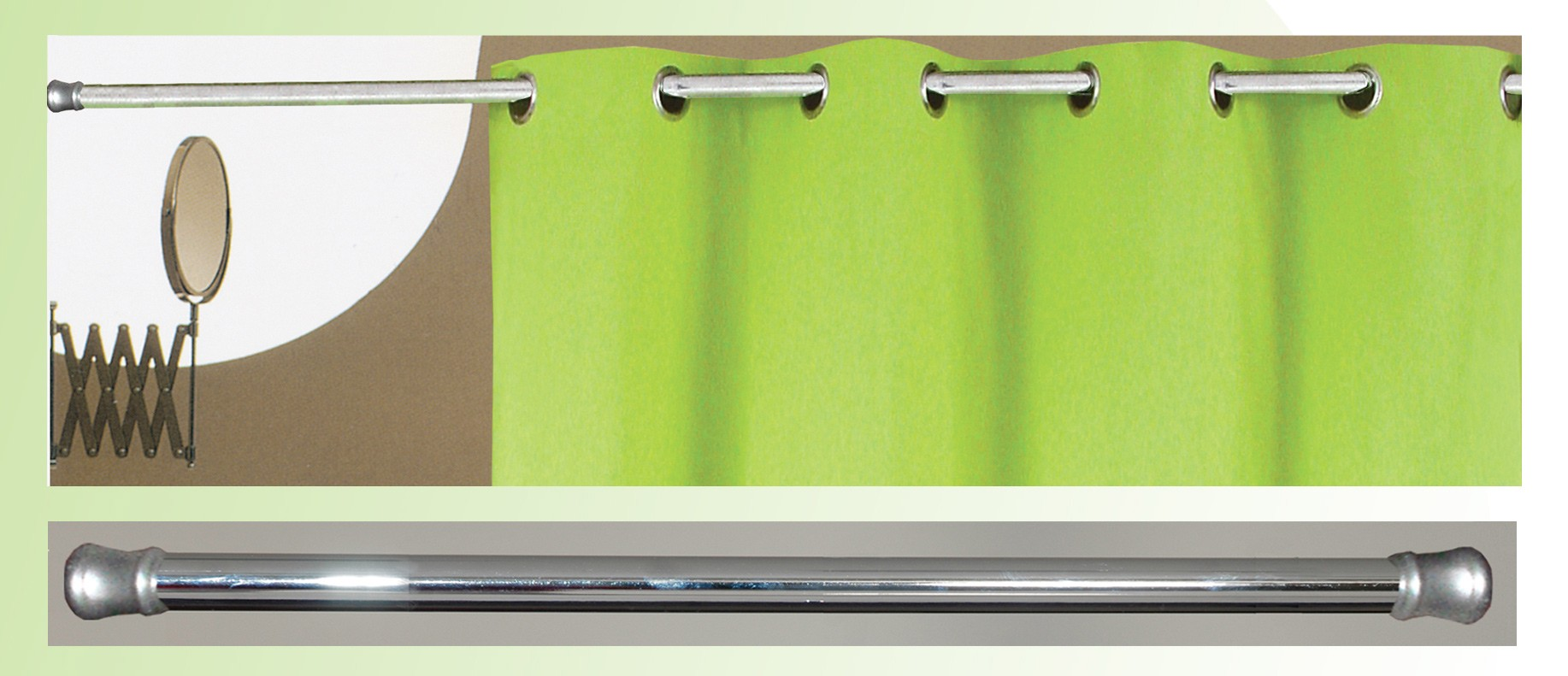 Βραχίονας Μπάνιου Πτυσσόμενος 110-200cm San Lorentzo Chrome