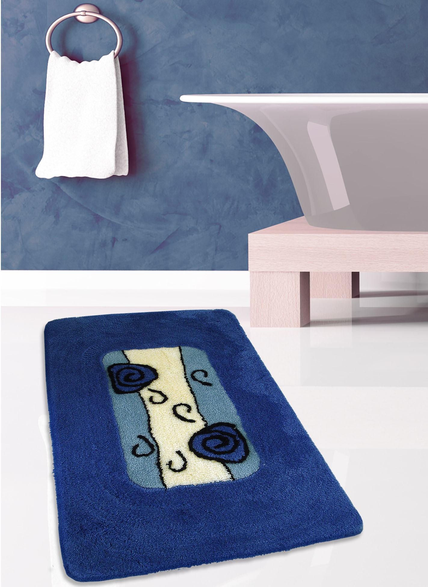 Πατάκι Μπάνιου (60x100) San Lorentzo Orkide Blue