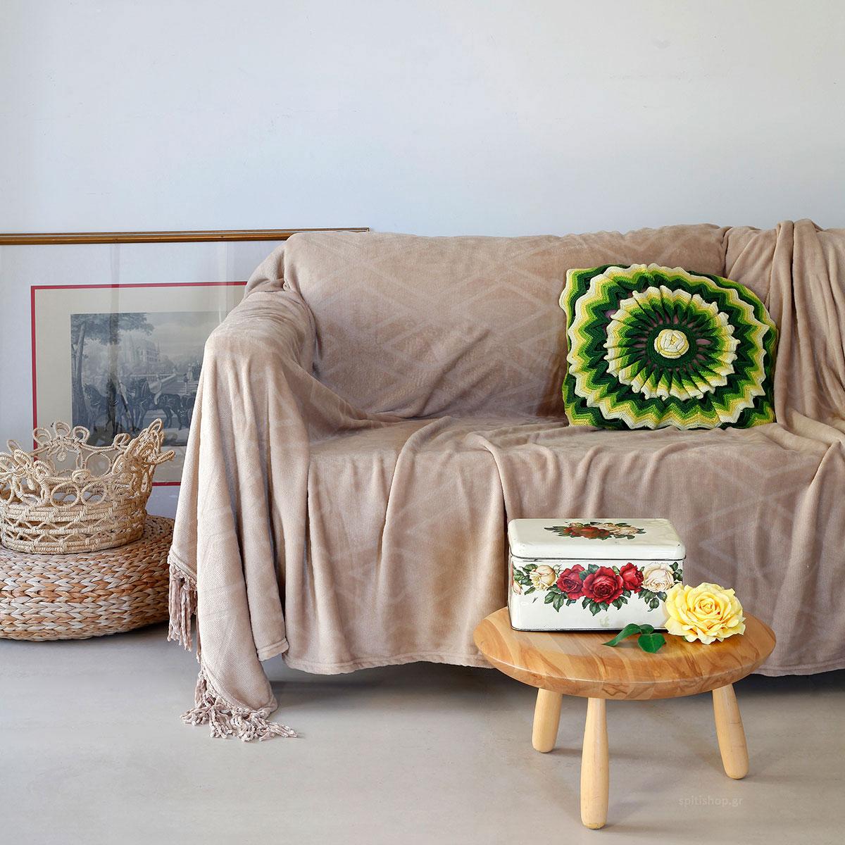Διακοσμητικό Ριχτάρι Fleece (130×170) Melinen Pakita