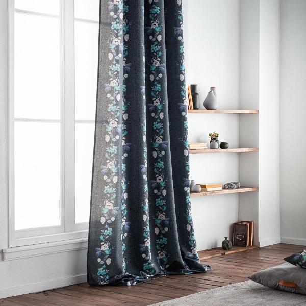 Κουρτίνα (140x280) Με Τρουκς Gofis Home Lisbeth Blue 592/09