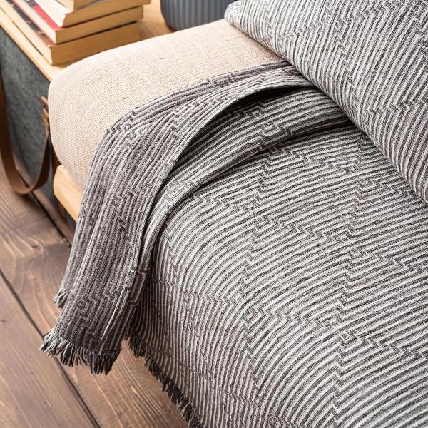 Ριχτάρι Πολυθρόνας (180x180) Gofis Home Cecil Grey 656/15