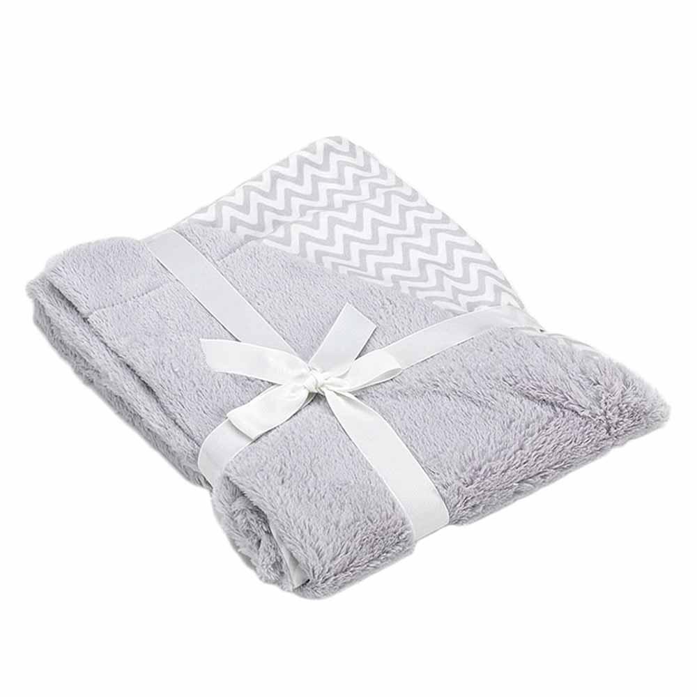 Κουβέρτα Βελουτέ Αγκαλιάς 2 Όψεων Morven Pompon F72 Γκρι