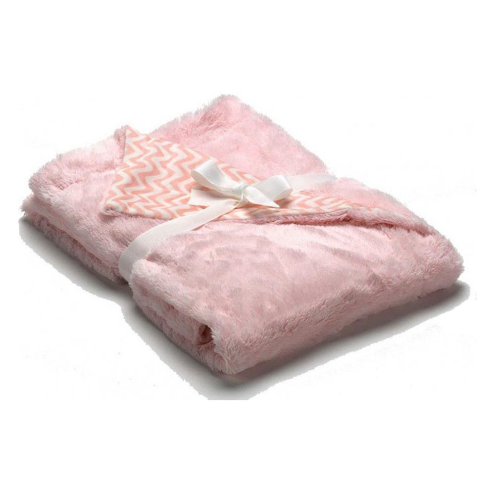 Κουβέρτα Βελουτέ Αγκαλιάς 2 Όψεων Morven Pompon F72 Ροζ