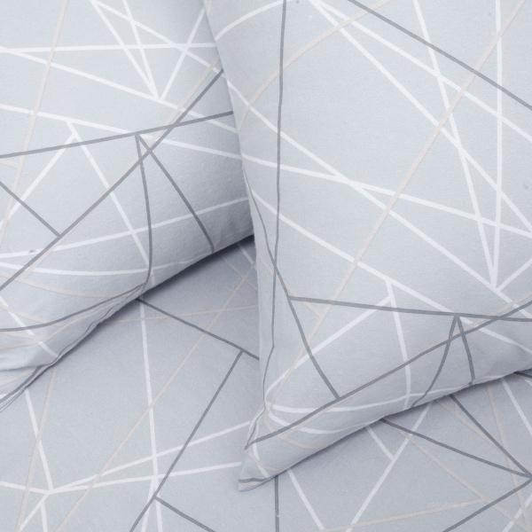 Φανελένια Σεντόνια Υπέρδιπλα (Σετ) Melinen Roots Silver