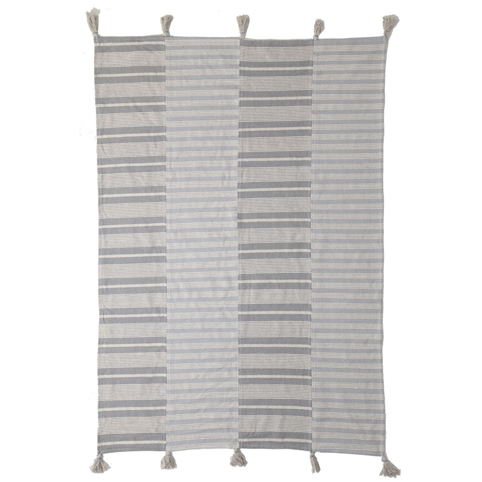 Χαλί Διαδρόμου (70×140) Royal Carpets Lotus Cotton Kilim 066 Grey/White