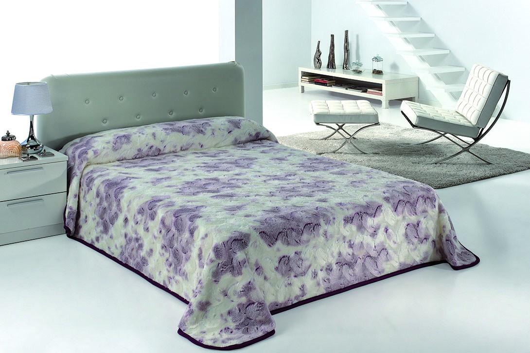 Κουβέρτα Βελουτέ Υπέρδιπλη Morven Morapel Luxe 828 Μελιτζανί home   κρεβατοκάμαρα   κουβέρτες   κουβέρτες βελουτέ υπέρδιπλες